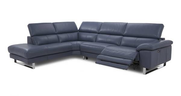 Salone Option F Right Arm Facing Twin Electric Recliner Corner Sofa