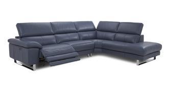 Salone Option C Left Arm Facing Single Electric Recliner Corner Sofa