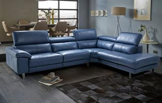 Salone Option C Left Arm Facing Single Electric Recliner Corner Sofa New  Club Iconica