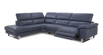 Salone Option F Right Arm Facing Twin Electric Recliner Corner Sofa