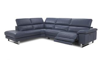 Option F Right Arm Facing Twin Electric Recliner Corner Sofa