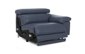 Right Arm Facing 1 Seater Electric Recliner Unit New Club