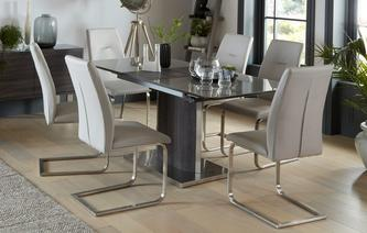 Salou Extending Dining Table & Set of 4 Chairs Salou