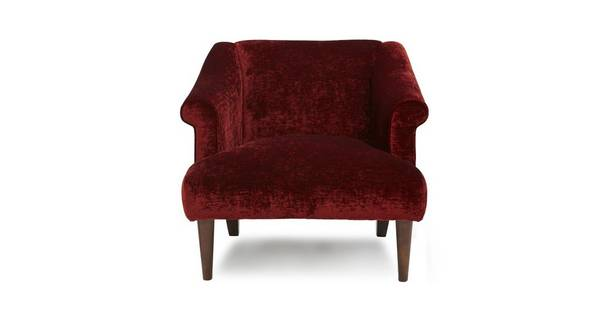 Santiago Red Crush Accent Chair