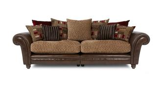 Santiago 4 Seater Pillow Back Split Sofa