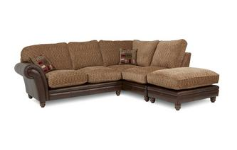 Left Hand Facing 3 Piece Formal Back Corner Sofa Santiago