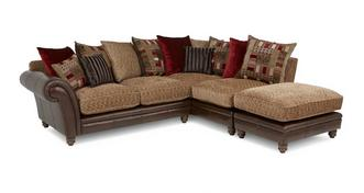 Santiago Left Hand Facing 3 Piece Pillow Back Corner Sofa