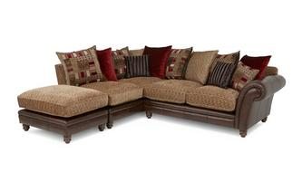 Right Hand Facing 3 Piece Pillow Back Corner Sofa Santiago