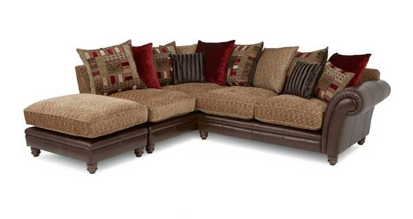 Santiago Right Hand Facing 3 Piece Pillow Back Corner Sofa