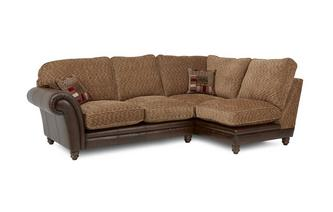 Left Hand Facing 2 Piece Formal Back Corner Sofa Santiago