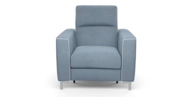 Sanzio Electric Recliner Chair with White Piping