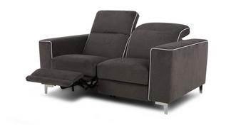 Sanzio 2 Seater Electric Recliner with White Piping