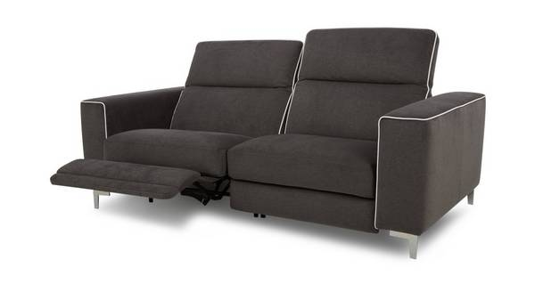 Sanzio 3 Seater Electric Recliner with White Piping