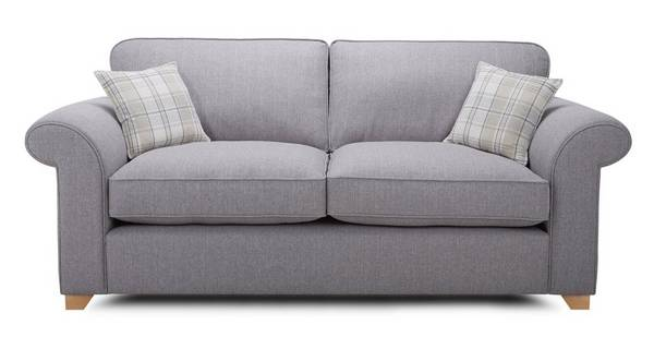 Sasha 3 Seater Formal Back Sofa Bed