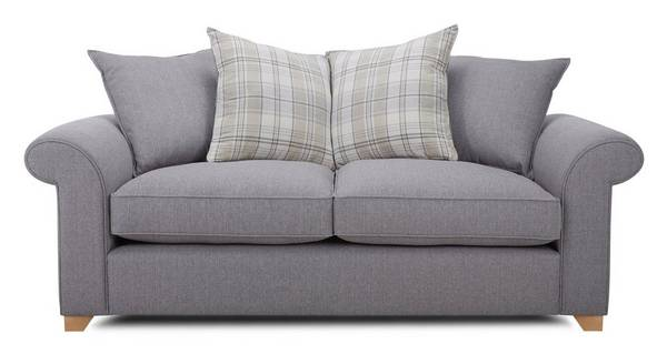 Sasha 3 Seater Pillow Back Sofa Bed