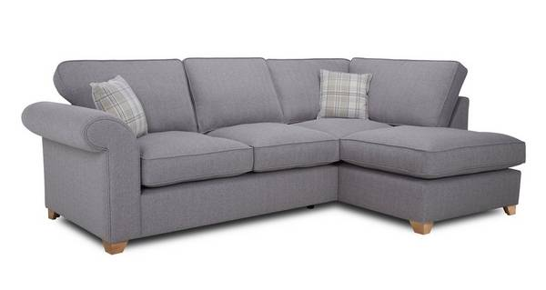 Sasha Left Arm Facing Formal Back Corner Sofa Bed