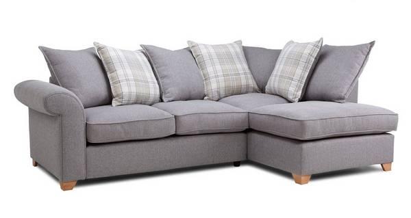 Sasha Left Arm Facing Pillow Back Corner Sofa Bed