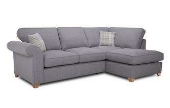 Left Arm Facing Formal Back Deluxe Corner Sofa Bed Rupert