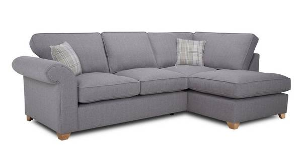 Sasha Left Arm Facing Formal Back Deluxe Corner Sofa Bed