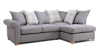 Sasha Left Arm Facing Pillow Back Deluxe Corner Sofa Bed