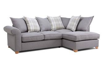 Left Arm Facing Pillow Back Deluxe Corner Sofa Bed Rupert