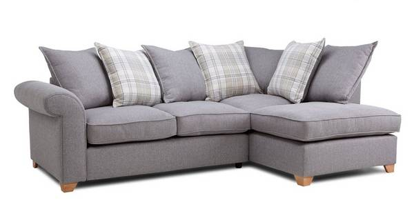 Sasha Left Arm Facing Pillow Back Deluxe Corner Sofa Bed