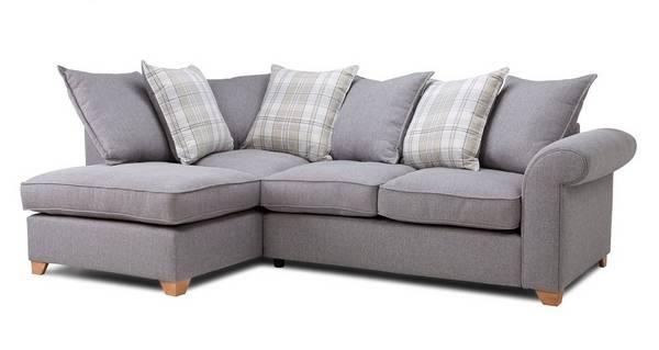 Sasha Right Arm Facing Pillow Back Corner Sofa Bed