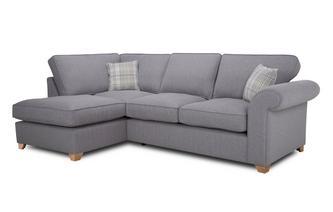 Right Arm Facing Formal Back Deluxe Corner Sofa Bed Rupert