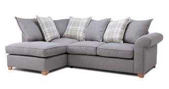 Sasha Right Arm Facing Pillow Back Deluxe Corner Sofa Bed