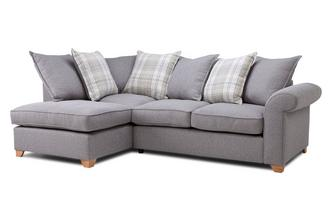 Right Arm Facing Pillow Back Deluxe Corner Sofa Bed