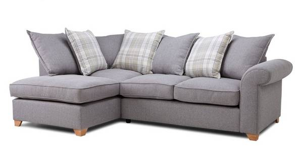 Sasha Right Arm Facing Pillow Back Deluxe Corner Sofa Bed