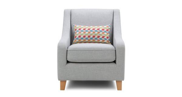 Sasta Accent Chair with Pattern Bolster