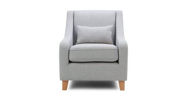 Sasta Accent Chair with Plain Bolster