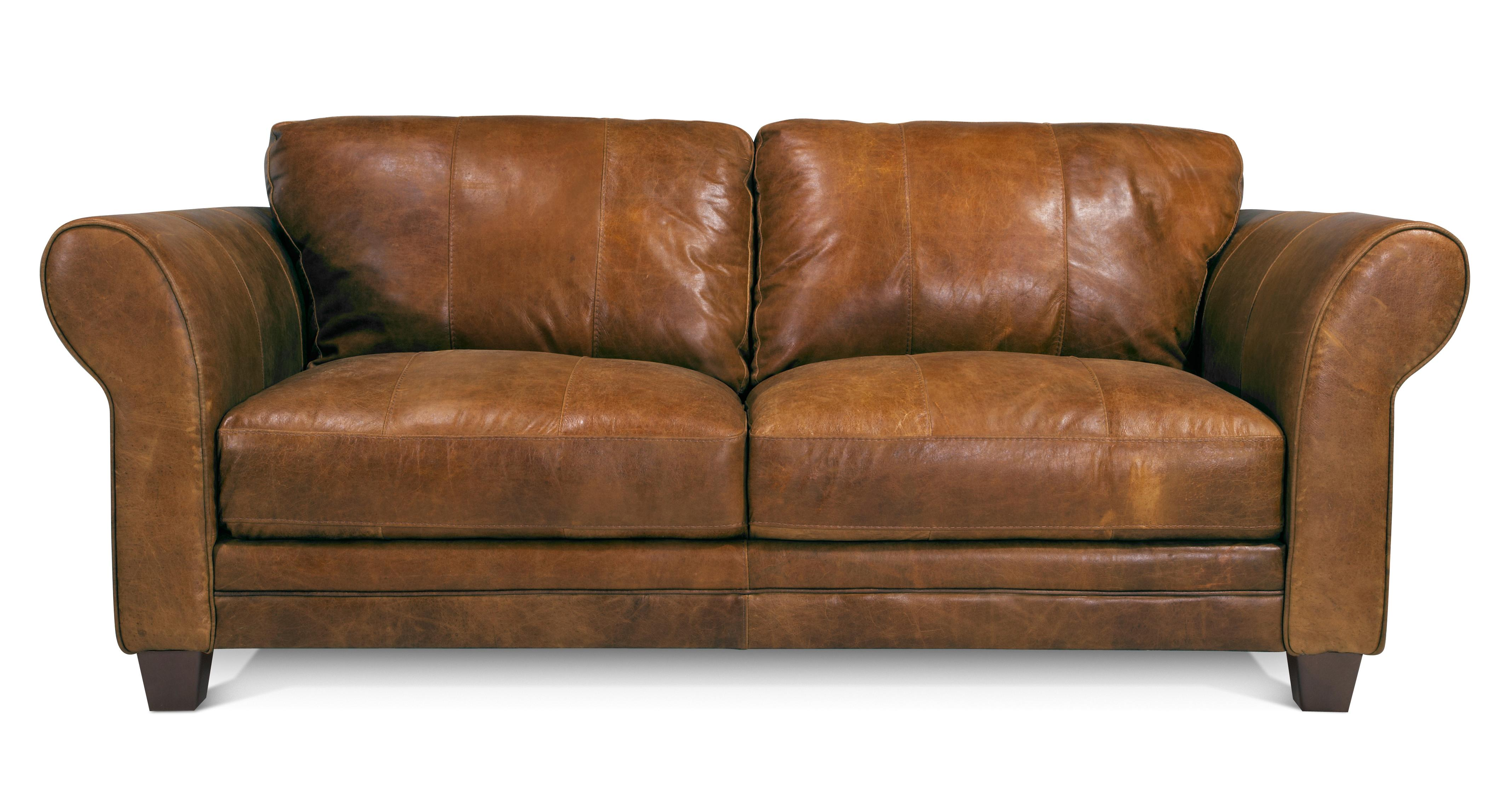 Comfy leather sofa -