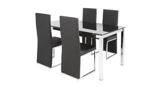 Savvy Vaste tafel en set van 4 stoelen