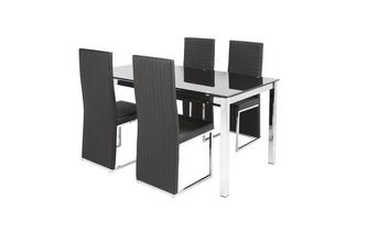 Fixed Top Table & Set of 4 Chairs Savvy