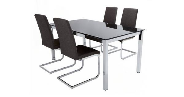 Savvy Fixed Top Table & Set of 4 Cantilever Chairs