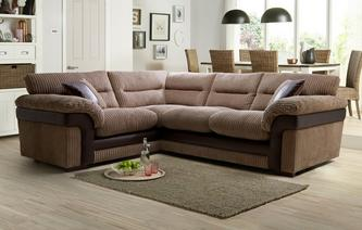 Saxon Left Hand Facing Arm 2 Piece Corner Sofa Samson