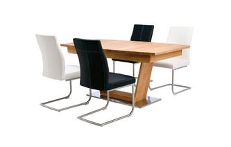 Sedgwick Extending Table Open Frame Base & 4 Cantilever Chairs Sedgwick