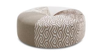 Sentosa Pattern Round Footstool