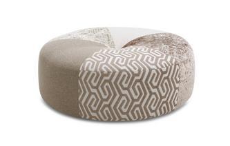 Pattern Round Footstool Sentosa