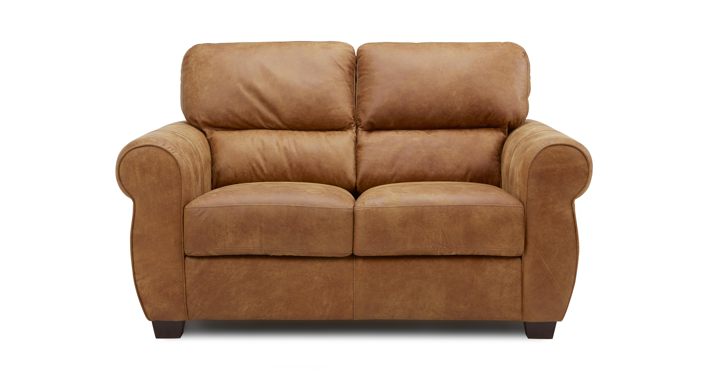 senzo small 2 seater sofa saddle dfs. Black Bedroom Furniture Sets. Home Design Ideas
