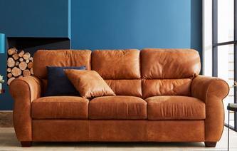 Senzo 3 Seater Sofa Saddle
