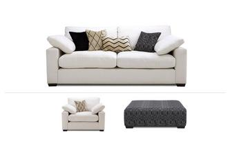 Serengeti Clearance 4 Seater Sofa, Chair & Stool Serengeti