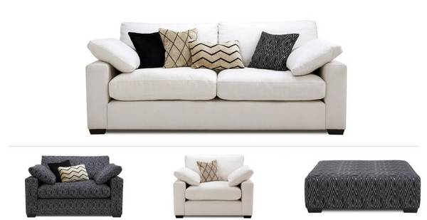 Serengeti Clearance 4 Seater Sofa, Cuddler, Chair & Stool