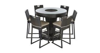 Seville 6 Seater Bar Set with Ice Bucket