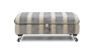 Shackleton Stripe Rectangular Storage Footstool