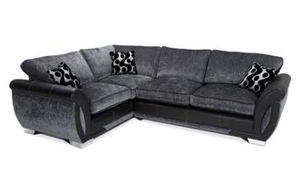 Right Hand Facing 3 Seater Formal Back Deluxe Corner Sofa Bed Talia
