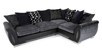 Shannon Left Hand Facing 3 Seater Pillow Back Corner Deluxe Sofa Bed