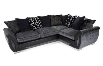 Left Hand Facing 3 Seater Pillow Back Corner Deluxe Sofa Bed
